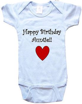 Amazon com HAPPY BIRDAY AUNTIE BigBoyMusic Baby One Piece