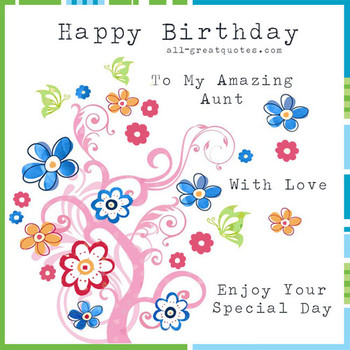 Share Free Cards For Birdays On Facebook Aunt Happy birday