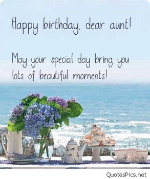 happy birday aunty Quotes Pics