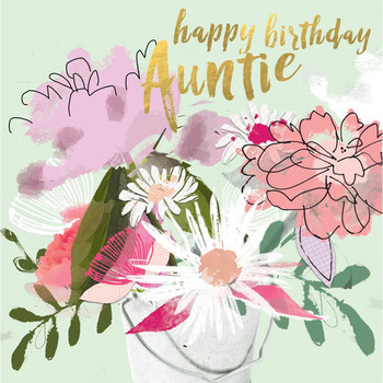 Happy Birday Auntie New Greetings Cards