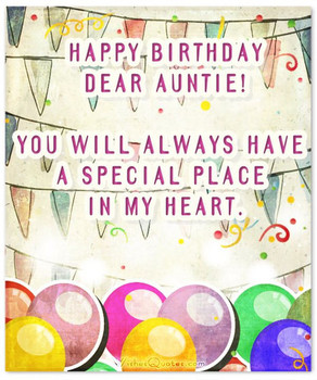 Heartfelt Birday Wishes for Your Aunt Aunt