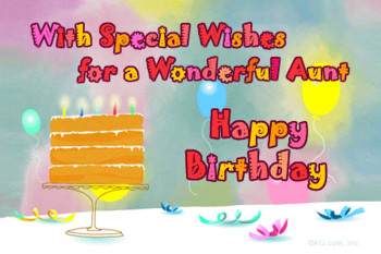 New and Top Birday Wishes for Aunt Birday Greetings Cards