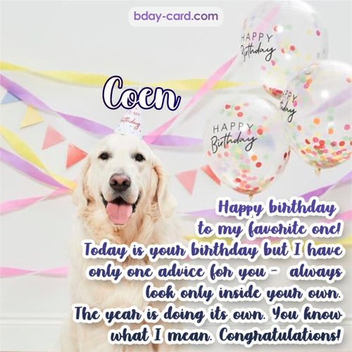Happy Birthday pics for Coen with Dog