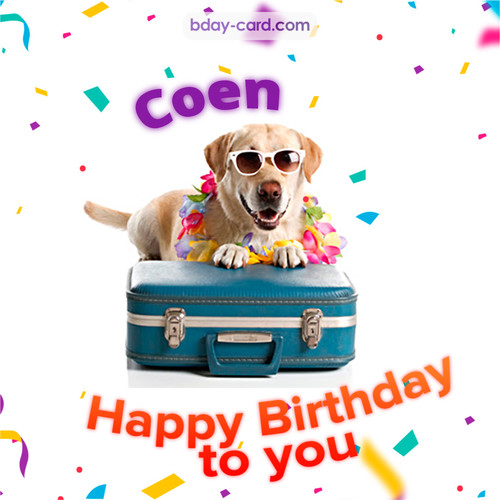 Funny Birthday pictures for Coen