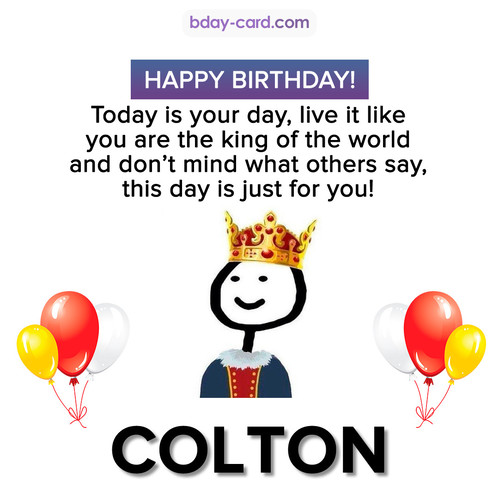 Happy Birthday Meme for Colton