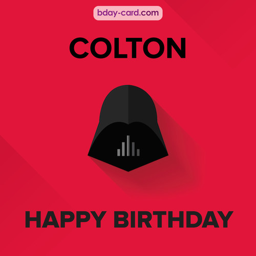 Happy Birthday pictures for Colton with Darth Vader