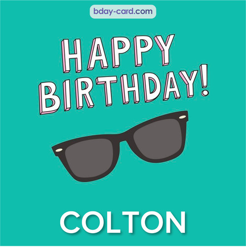 Happy Birthday pic for Colton with glasses