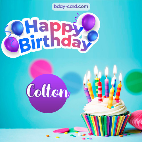 Birthday photos for Colton with Cupcake
