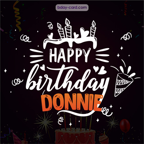 Black Happy Birthday cards for Donnie