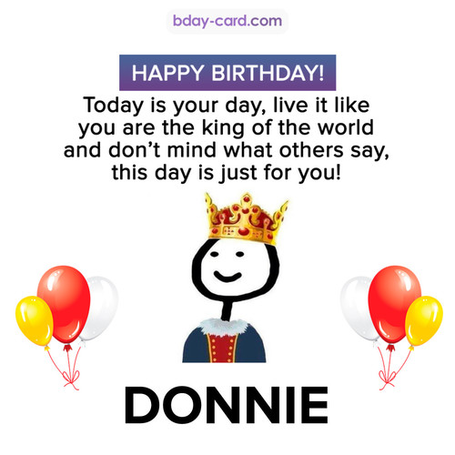 Happy Birthday Meme for Donnie