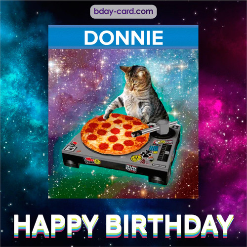 Meme with a cat for Donnie - Happy Birthday