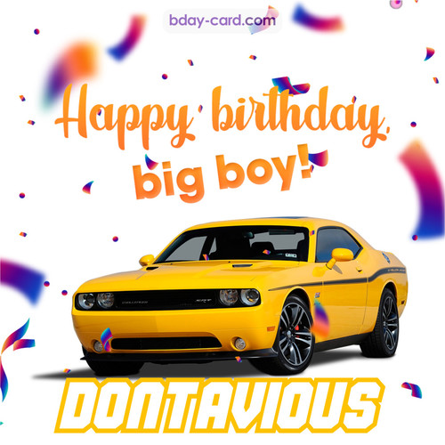 Happiest birthday for Dontavious with Dodge Charger
