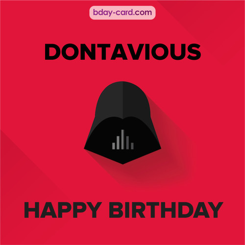 Happy Birthday pictures for Dontavious with Darth Vader