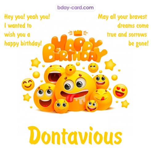 Happy Birthday images for Dontavious with Emoticons