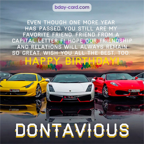 Birthday pics for Dontavious with Sports cars