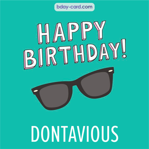 Happy Birthday pic for Dontavious with glasses