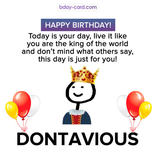 Happy Birthday Meme for Dontavious