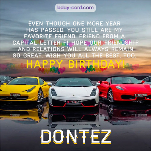 Birthday pics for Dontez with Sports cars