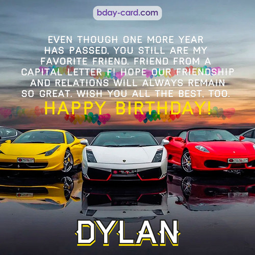 Birthday pics for Dylan with Sports cars