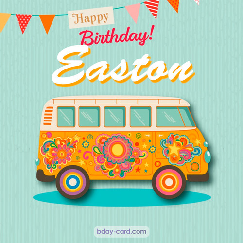 Happiest birthday pictures for Easton with hippie bus