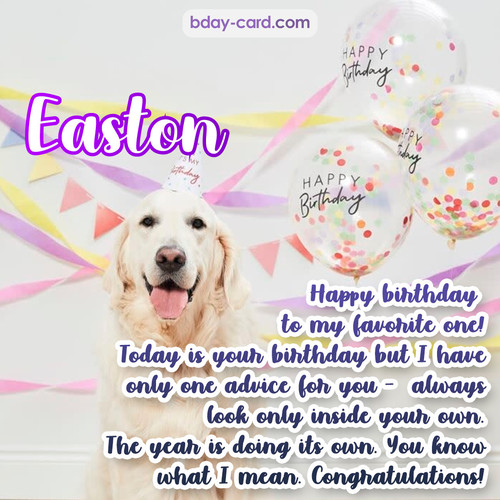Happy Birthday pics for Easton with Dog
