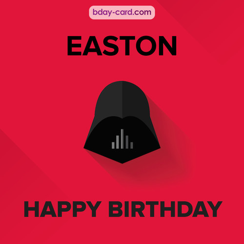 Happy Birthday pictures for Easton with Darth Vader