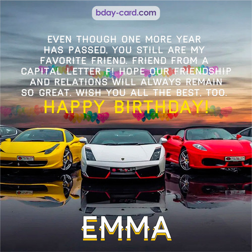 Birthday pics for Emma with Sports cars