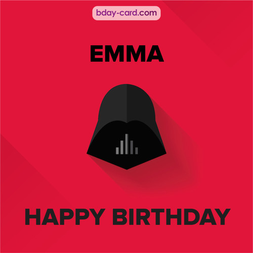 Happy Birthday pictures for Emma with Darth Vader