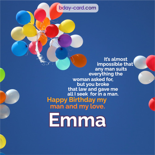 Birthday images for Emma with Balls