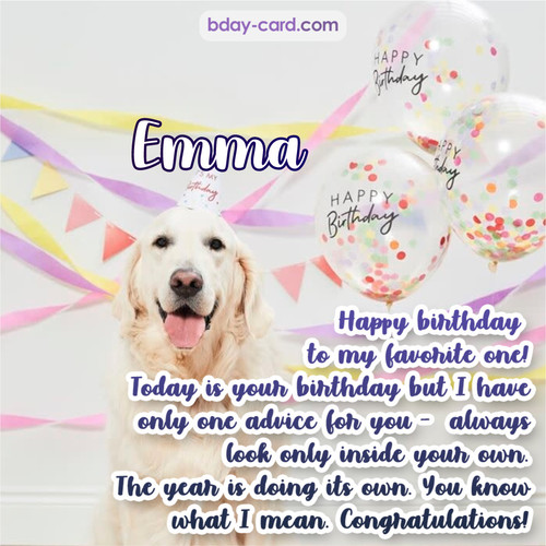 Happy Birthday pics for Emma with Dog