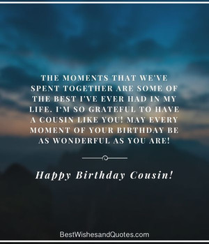 Happy Birday Cousin Quotes Wishes and Images