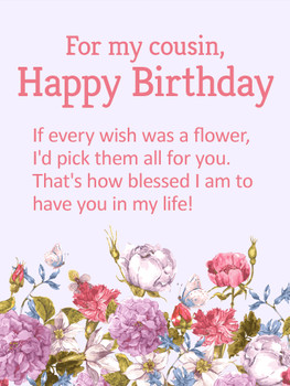 Blessed to Have You in my Life Happy Birday Wishes Card for