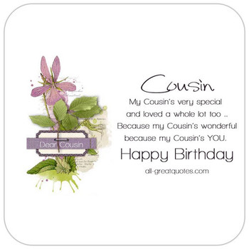 Happy Birday Cousin Share Free Birday Cards On Facebook