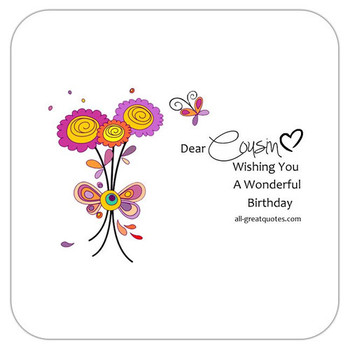 Write Happy Birday Cousin Wishes Verses In A Card