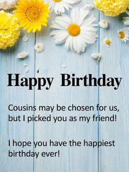 Happy Birday Cousin Quotes wi Images and Memes