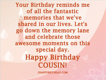 Happy Birday Cousin Wishes and Quotes HappyBirday