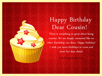 Birday Wishes For Cousin Wordings and Messages
