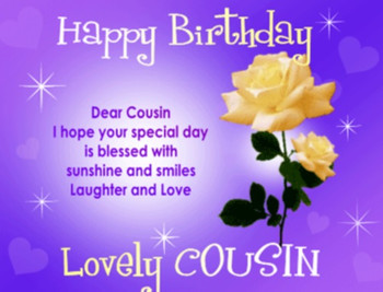 Happy Birday Cousin Quotes Images Pictures photos