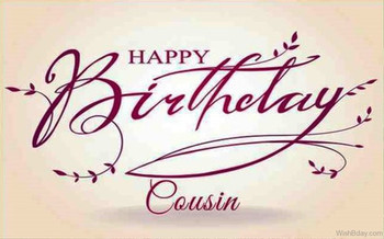 Birday Wishes For Cousin