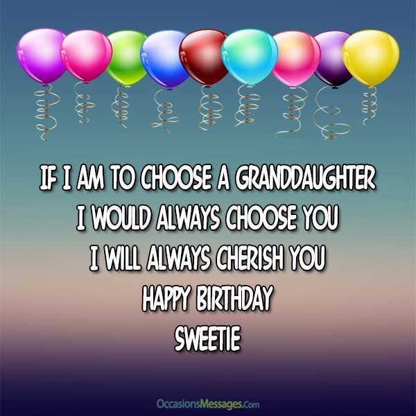 Birday Wishes for Granddaughter Occasions Messages