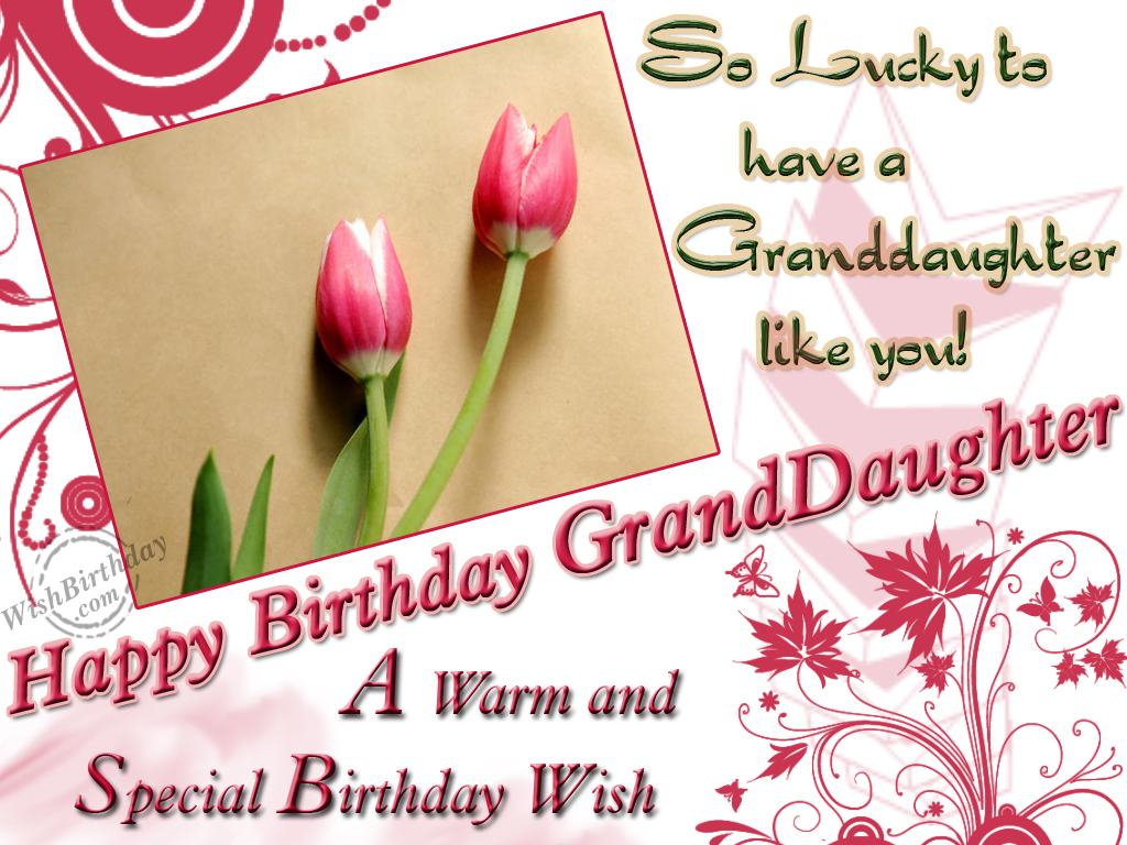 Birday Wishes For Granddaughter Images Pictures