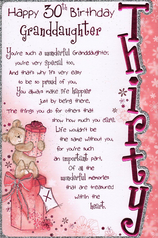 Granddaughter Birday Card Happy