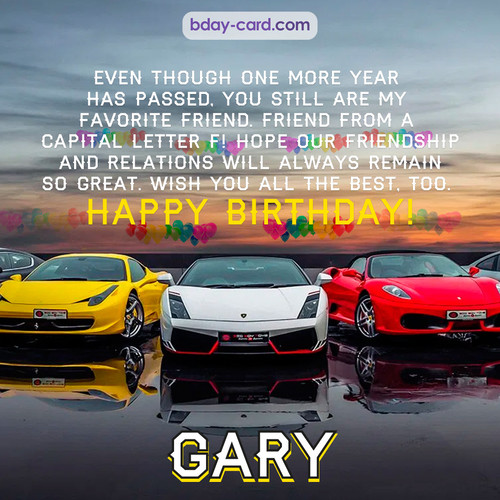 Birthday pics for Gary with Sports cars