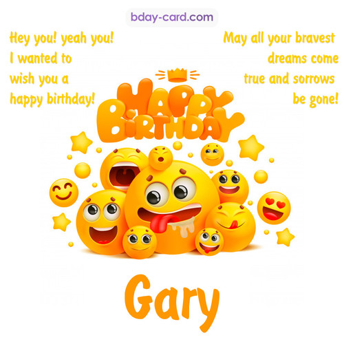 Happy Birthday images for Gary with Emoticons