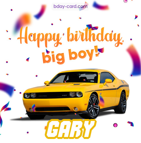 Happiest birthday for Gary with Dodge Charger