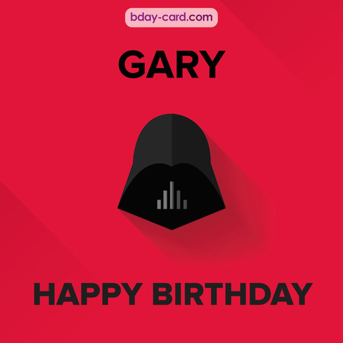 Happy Birthday pictures for Gary with Darth Vader