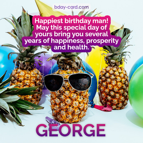 Happiest birthday pictures for George with Pineapples
