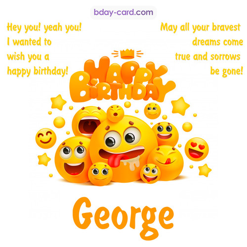 Happy Birthday images for George with Emoticons