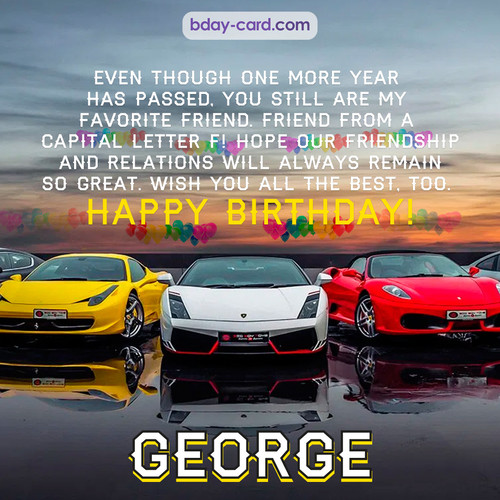 Birthday pics for George with Sports cars