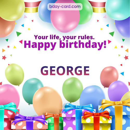 Funny Birthday pictures for George